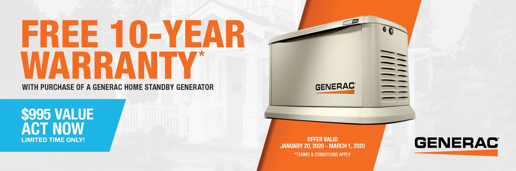 Homestandby Generator Deal | Warranty Offer | Generac Dealer | Knoxville, TN
